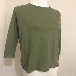 J. Crew Tops - J. Crew tie back tee in green